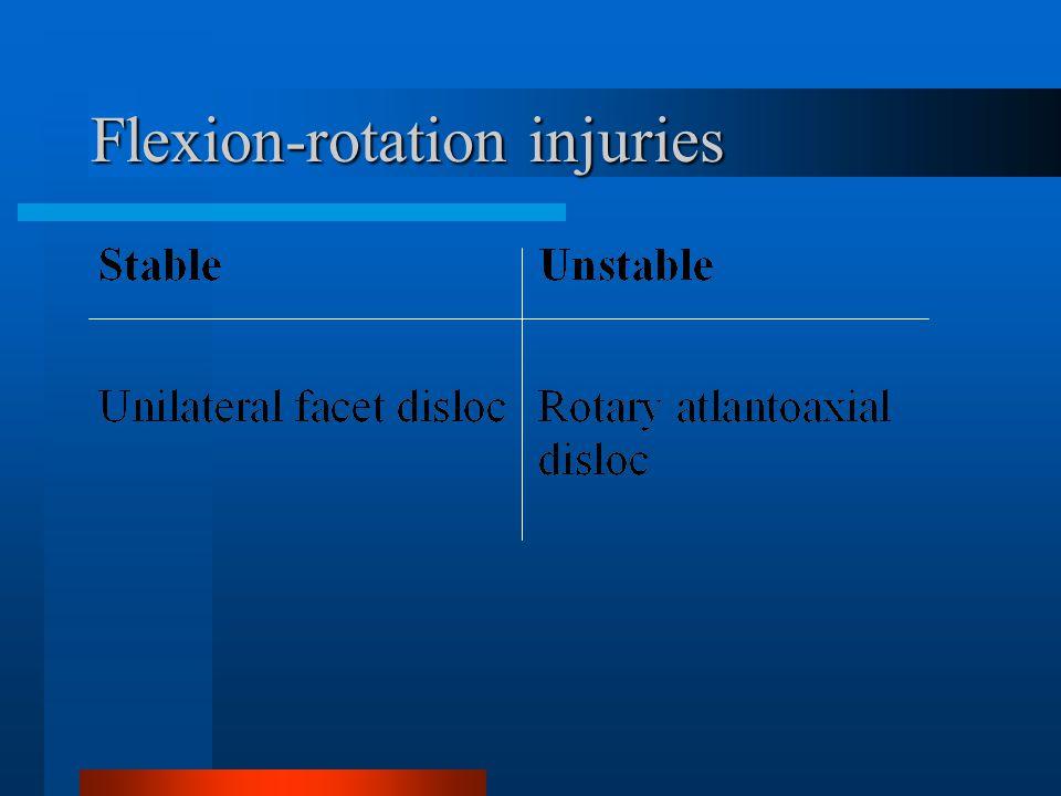Flexion-rotation injuries