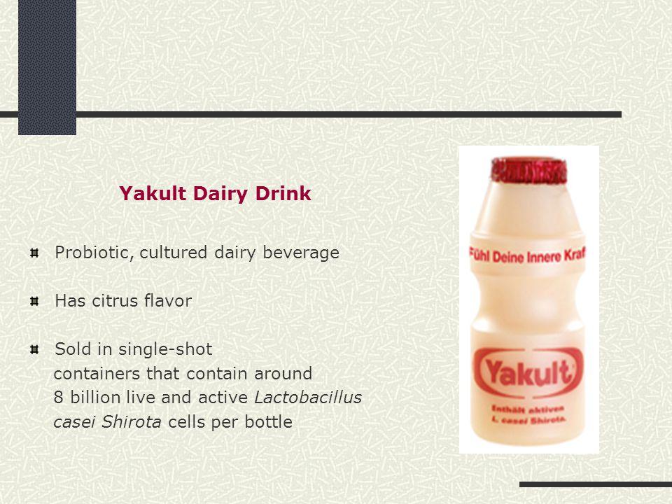 Yakult Dairy Drink Probiotic, cultured dairy beverage