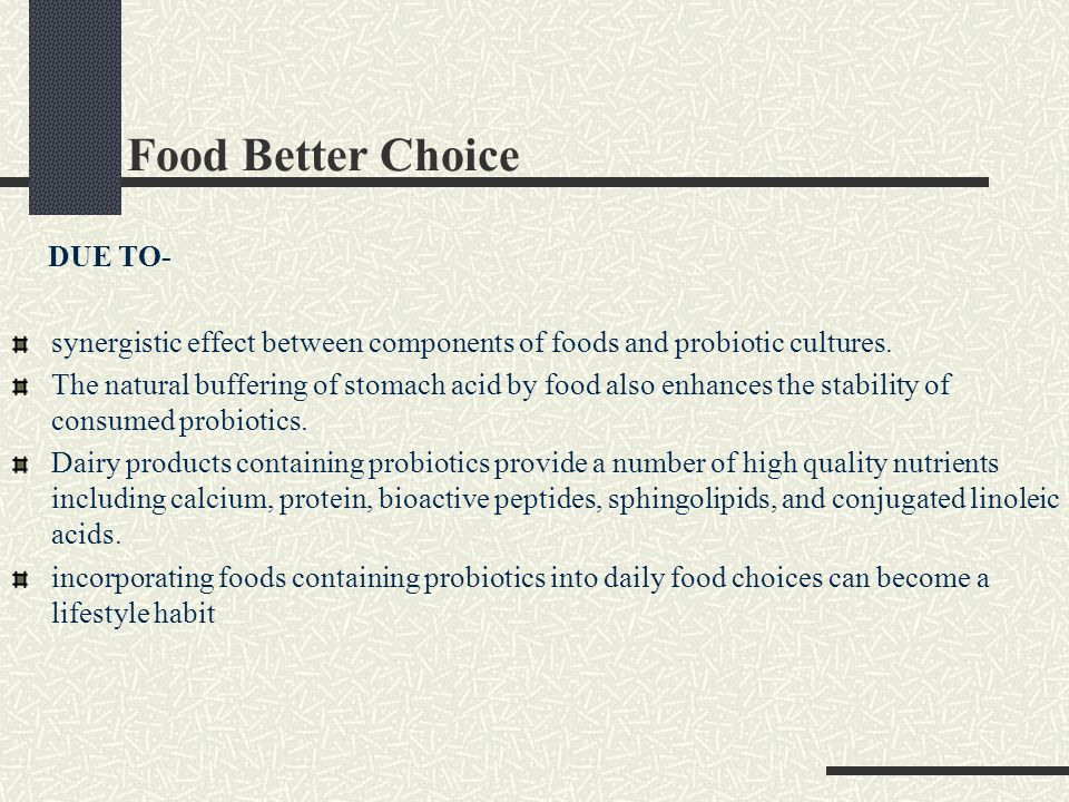 Food Better Choice DUE TO-