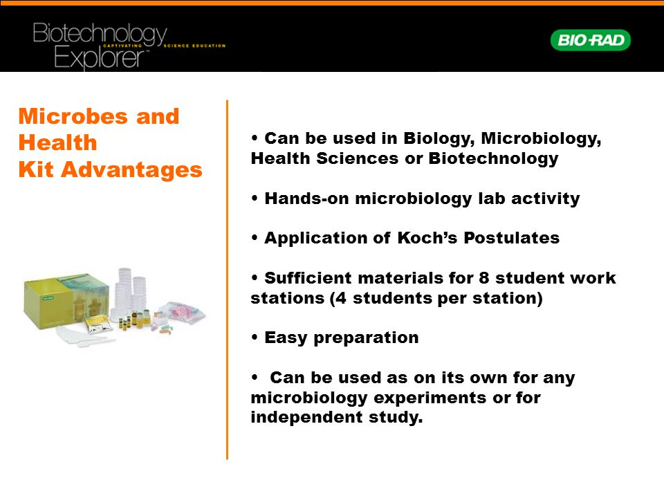 Microbes and Health Kit Advantages