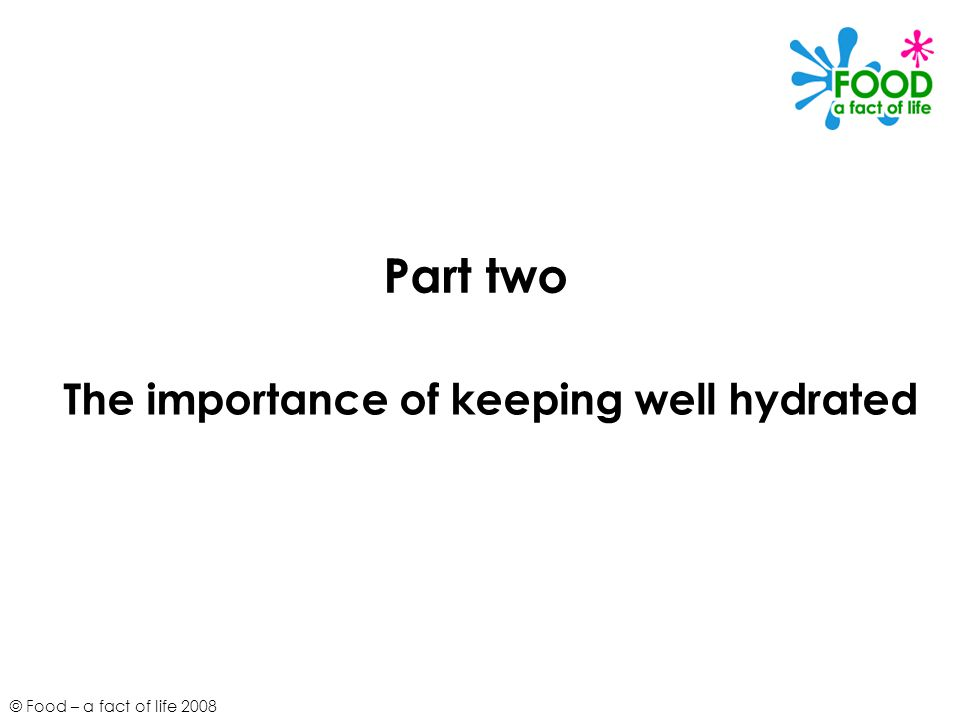 The importance of keeping well hydrated