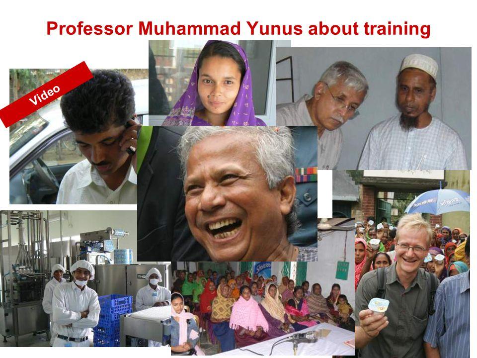 Professor Muhammad Yunus about training