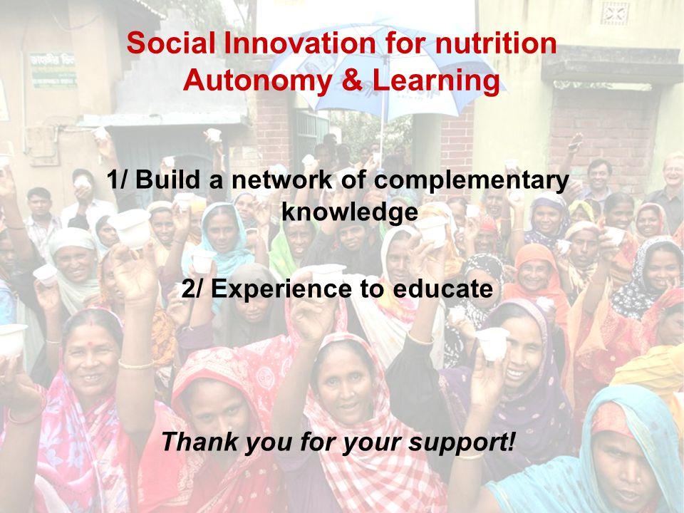 Social Innovation for nutrition Autonomy & Learning