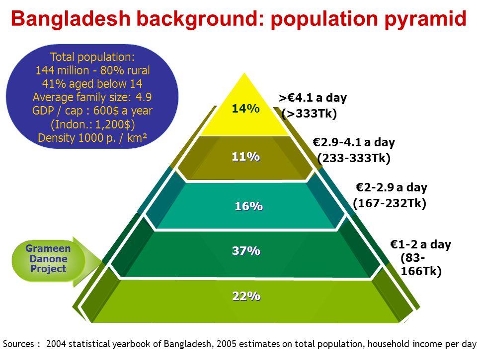 Bangladesh background: population pyramid