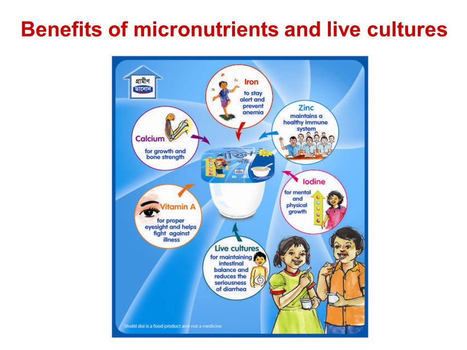 Benefits of micronutrients and live cultures