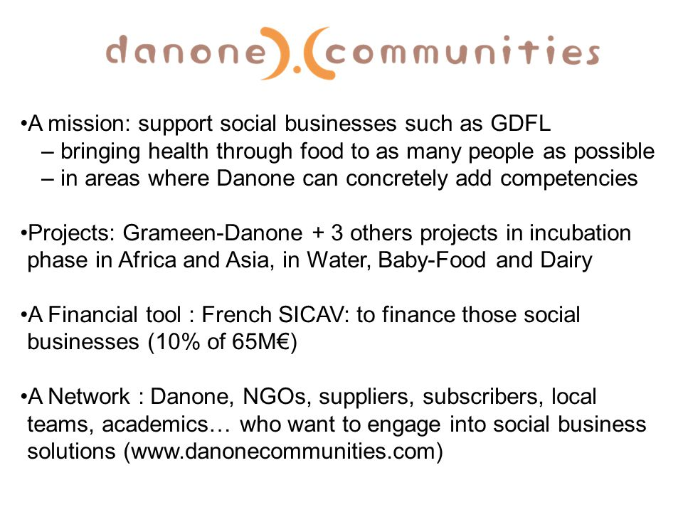 A mission: support social businesses such as GDFL