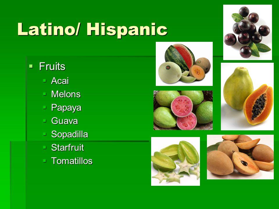 Latino/ Hispanic Fruits Acai Melons Papaya Guava Sopadilla Starfruit