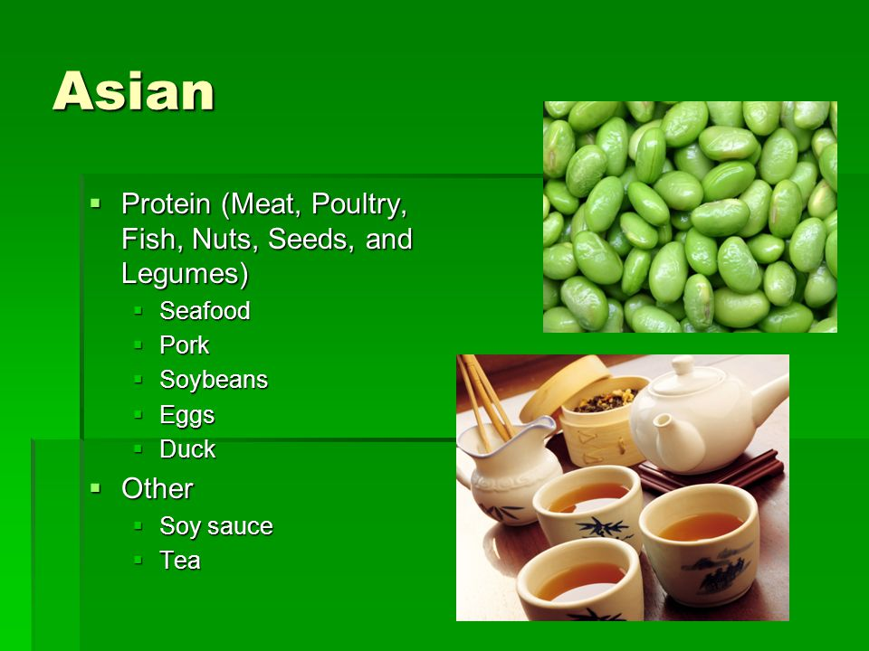 Asian Protein (Meat, Poultry, Fish, Nuts, Seeds, and Legumes) Other