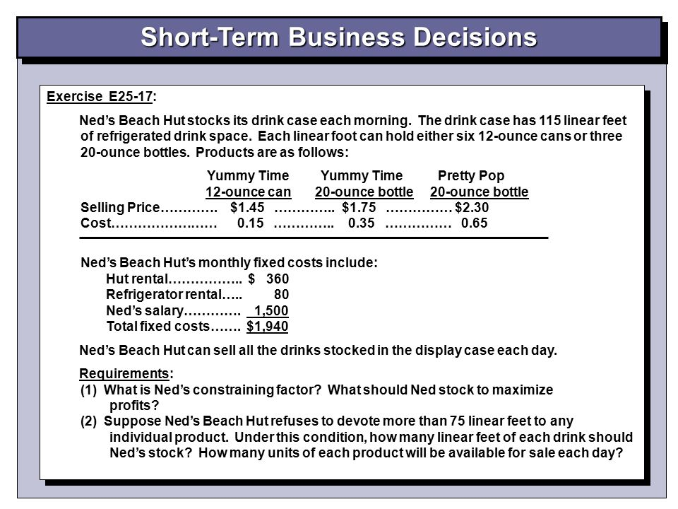 Short-Term Business Decisions