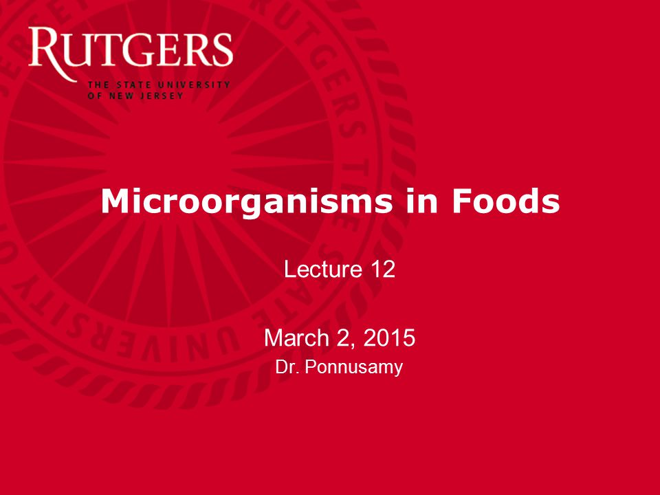 Microorganisms in Foods