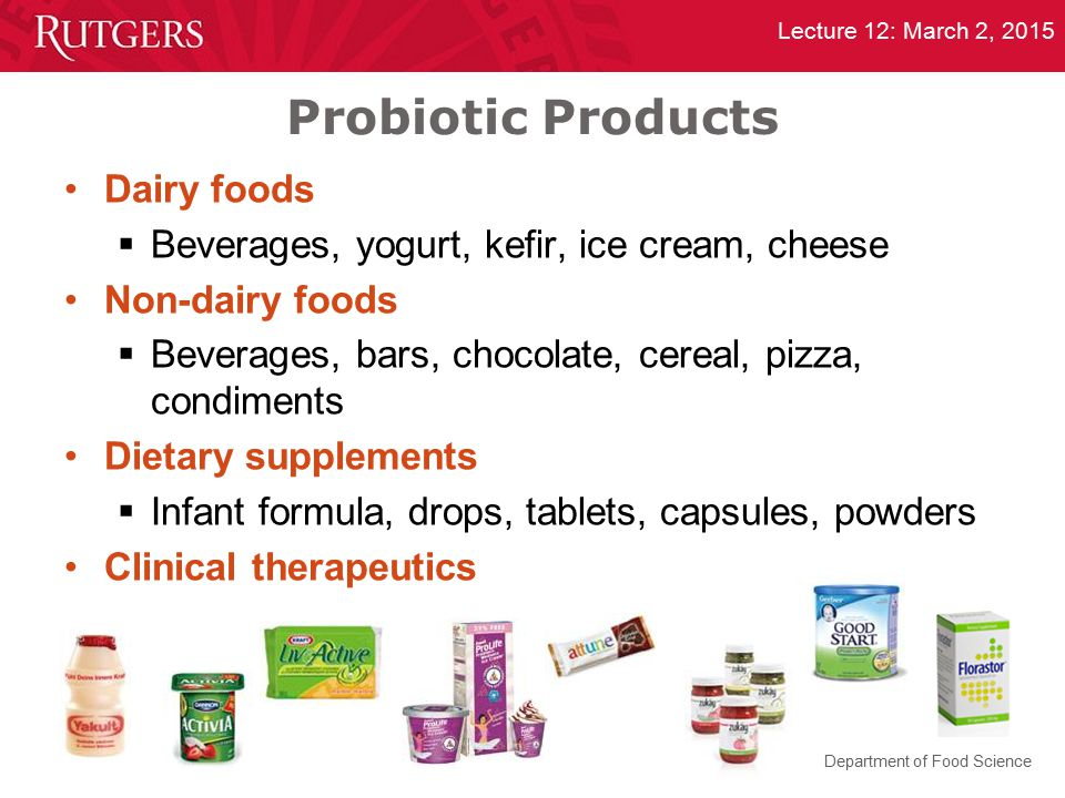 Probiotic Products Dairy foods