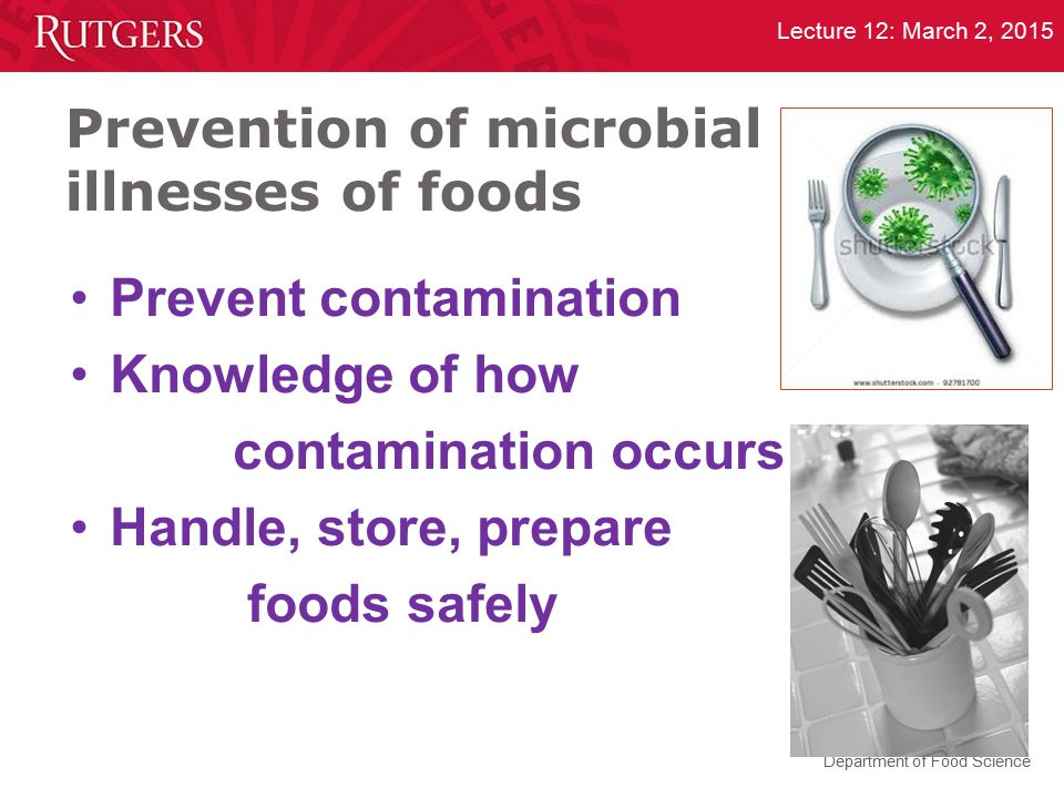 Prevention of microbial illnesses of foods