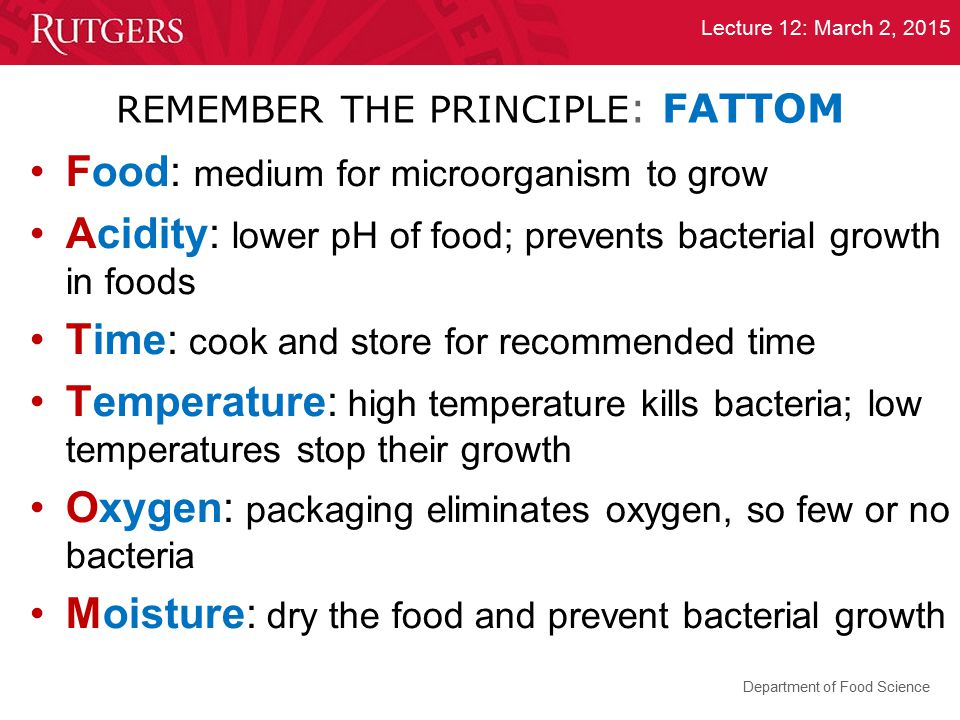 REMEMBER THE PRINCIPLE: FATTOM