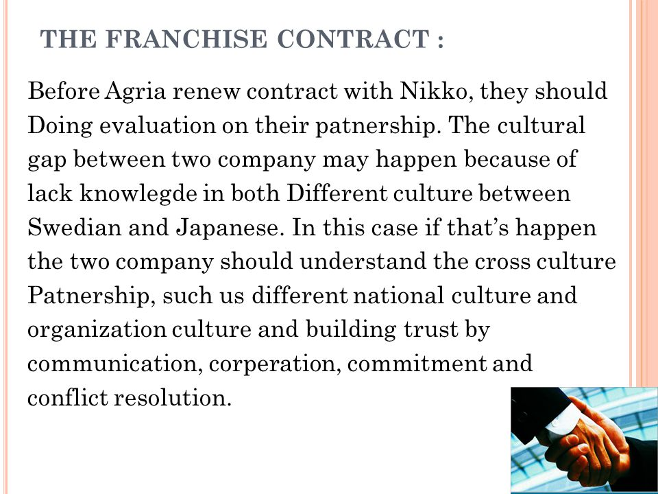 The Franchise Contract :