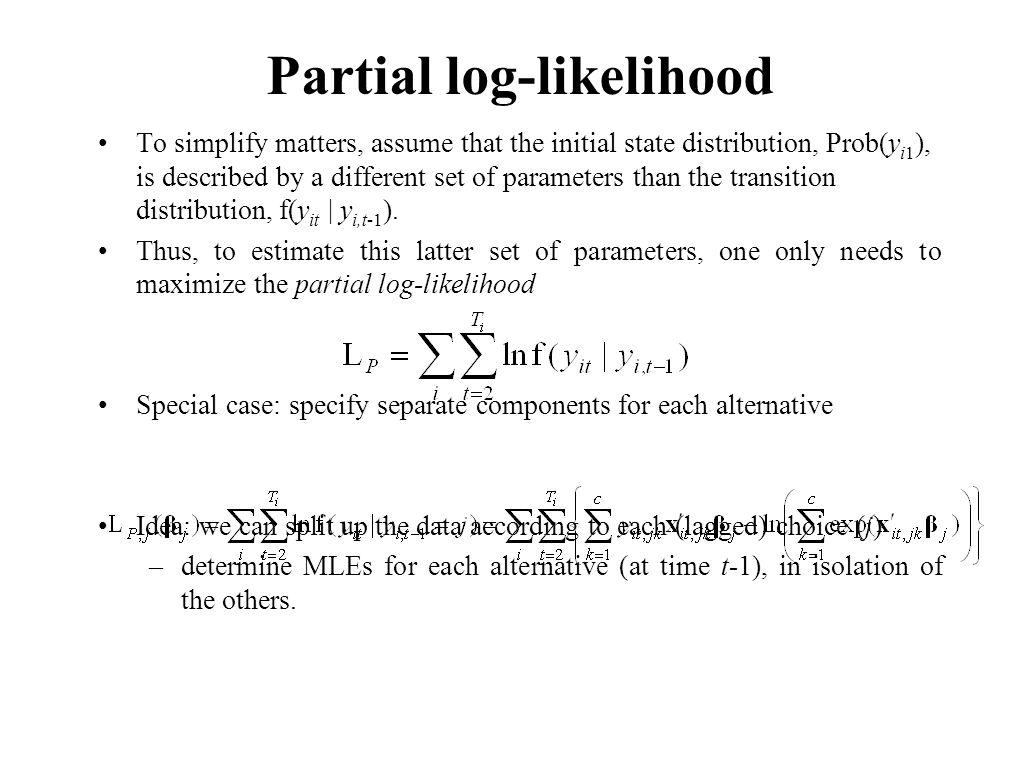 Partial log-likelihood
