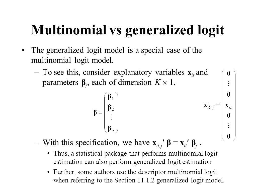 Multinomial vs generalized logit