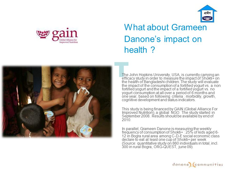 What about Grameen Danone's impact on health