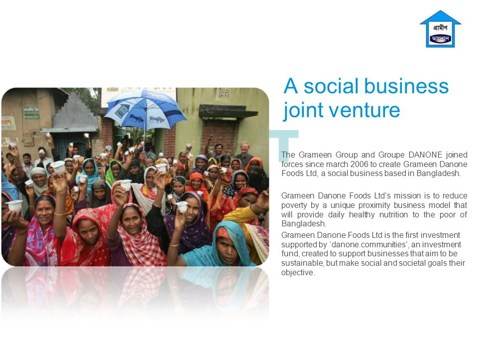 A social business joint venture