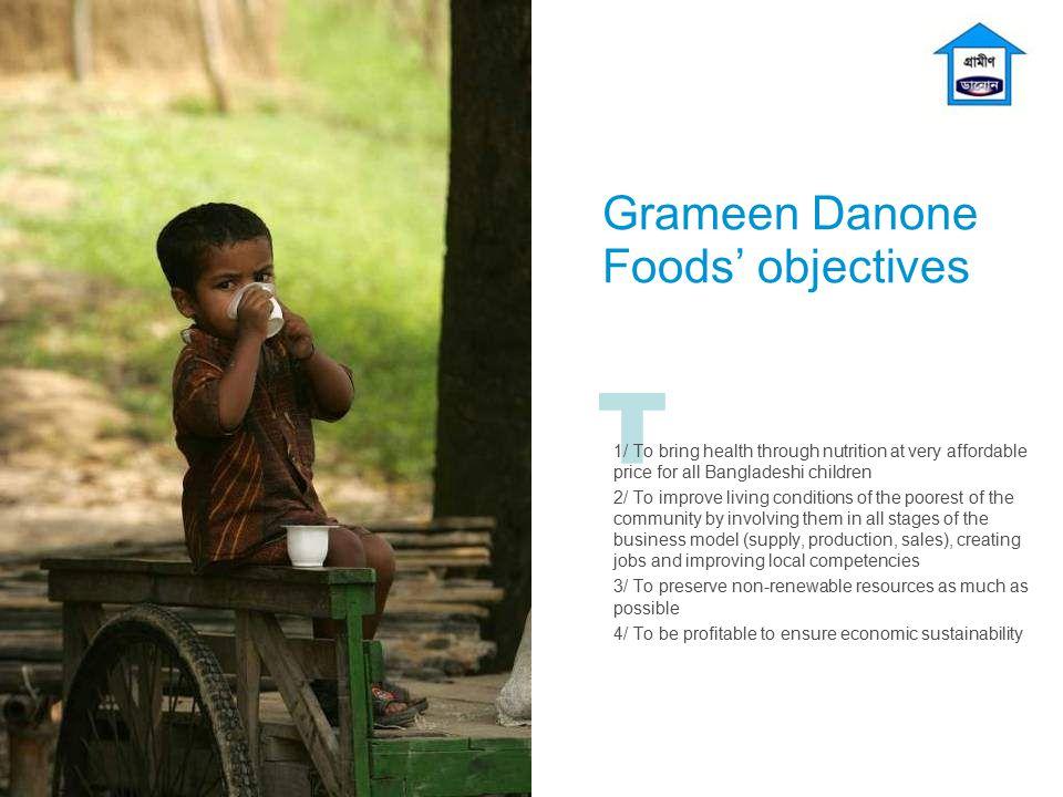 Grameen Danone Foods' objectives