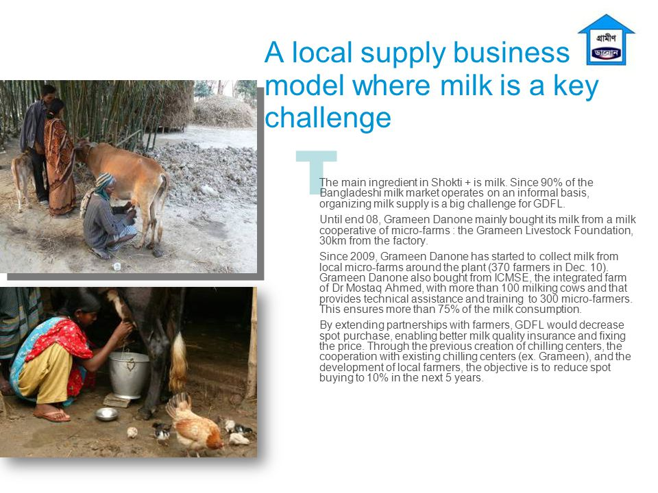 A local supply business model where milk is a key challenge