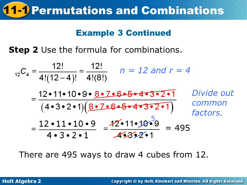 Step 2 Use the formula for combinations.