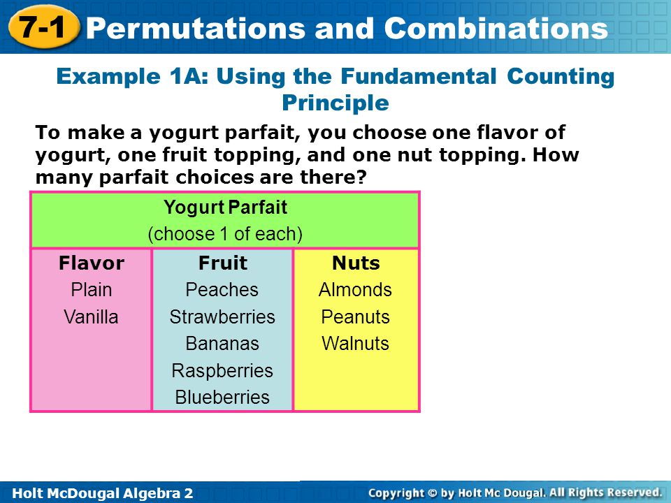 Example 1A: Using the Fundamental Counting Principle