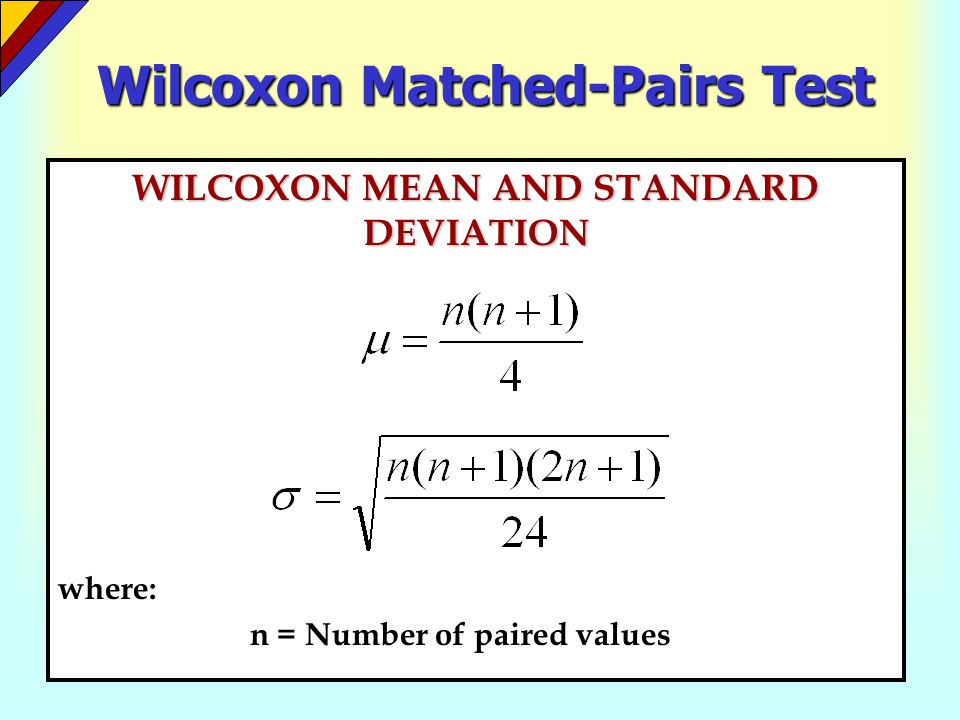 Wilcoxon Matched-Pairs Test