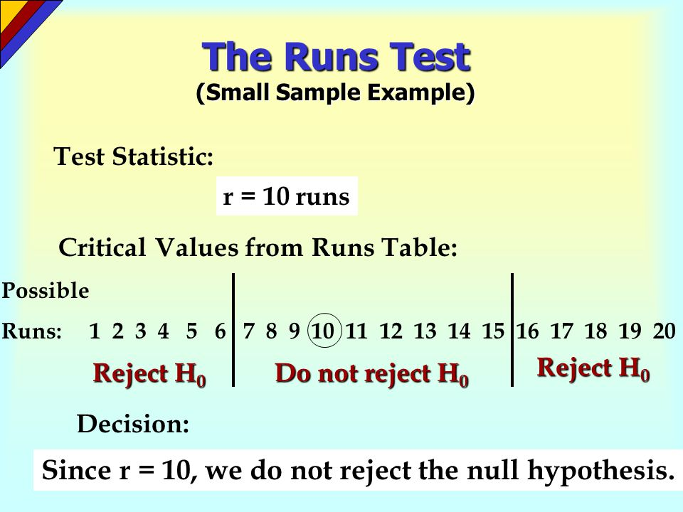 The Runs Test (Small Sample Example)
