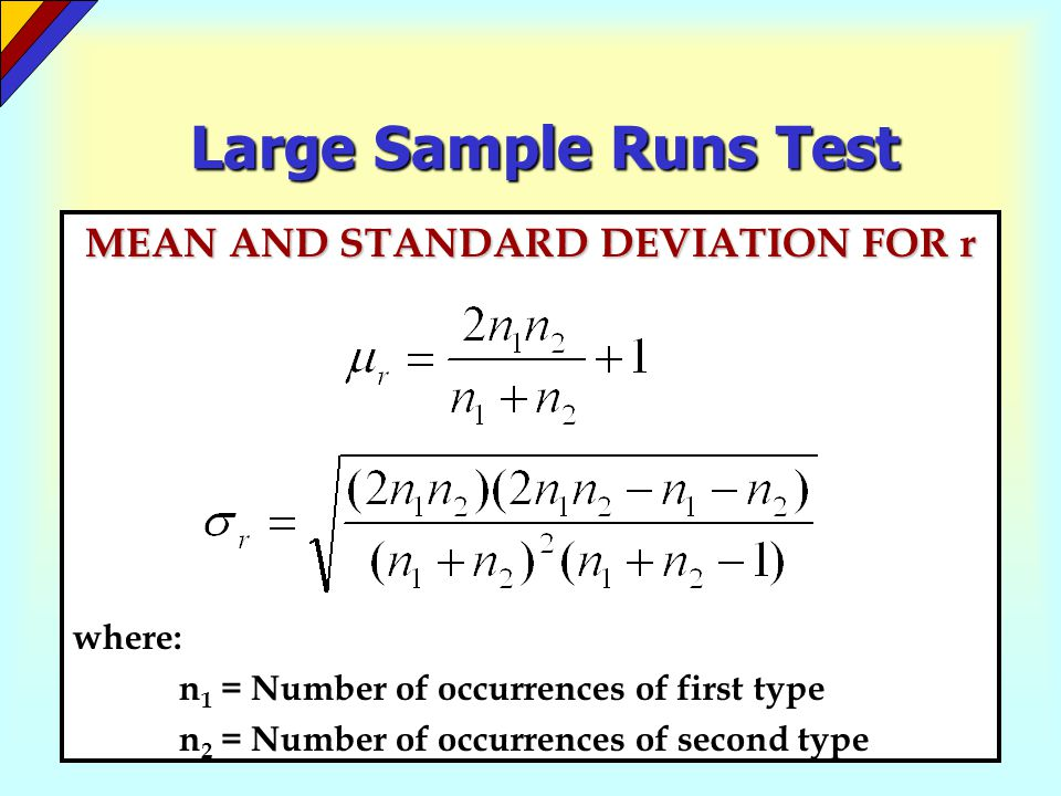 MEAN AND STANDARD DEVIATION FOR r
