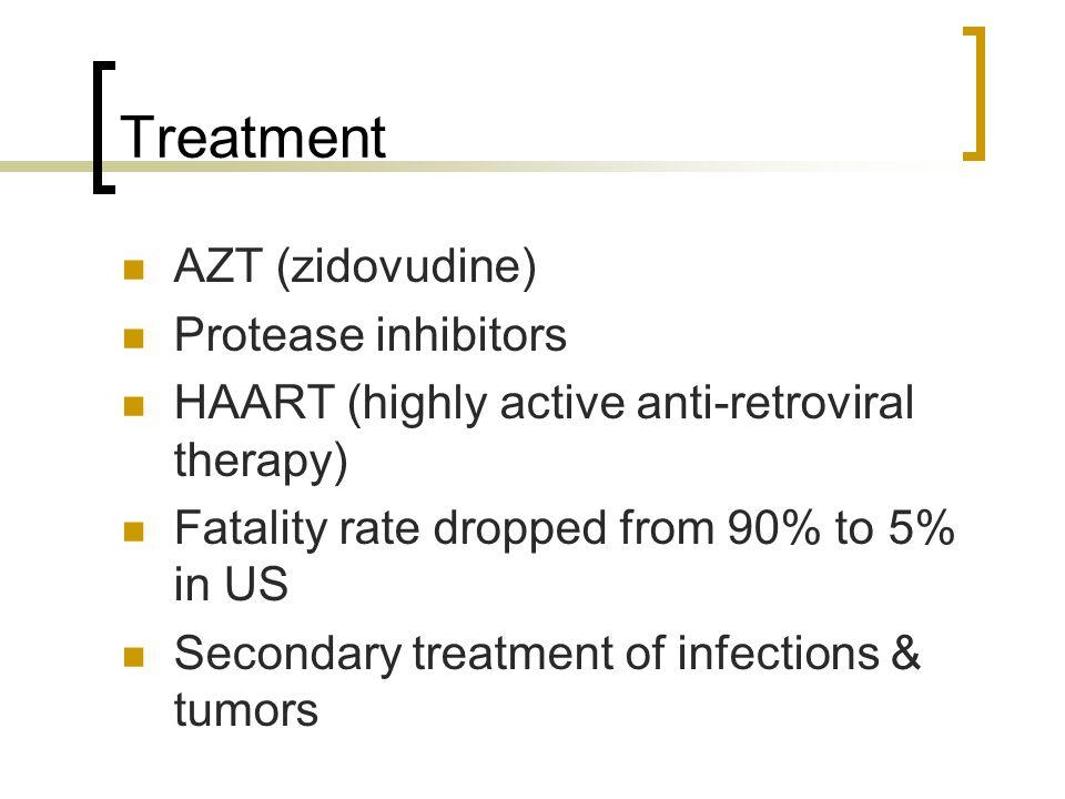 Treatment AZT (zidovudine) Protease inhibitors