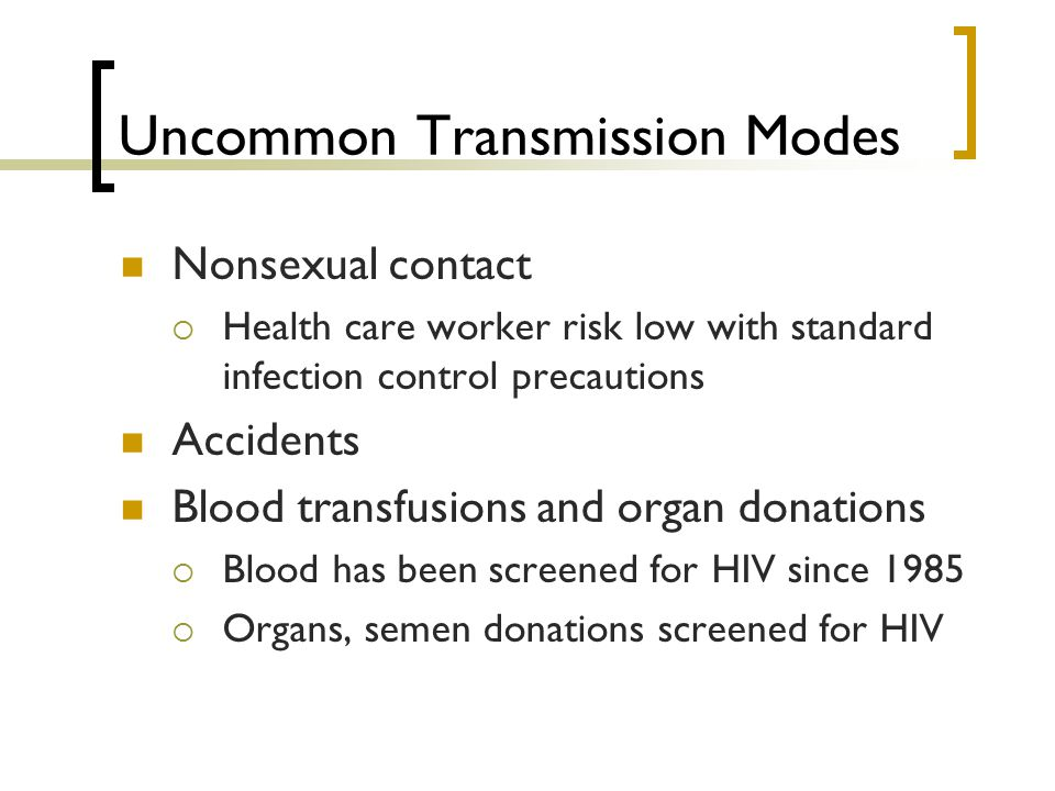 Uncommon Transmission Modes