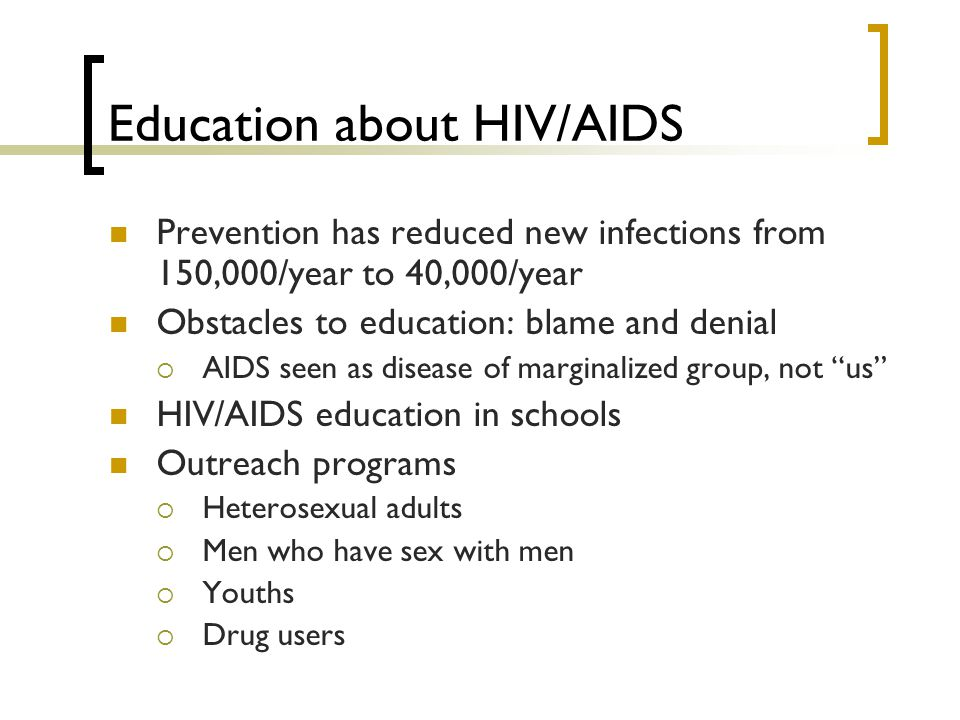 Education about HIV/AIDS