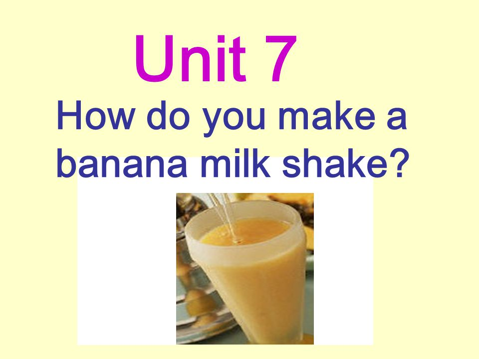 How do you make a banana milk shake