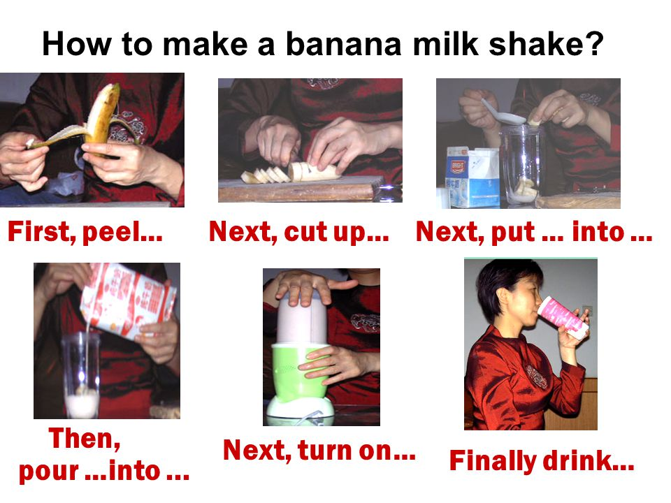 How to make a banana milk shake