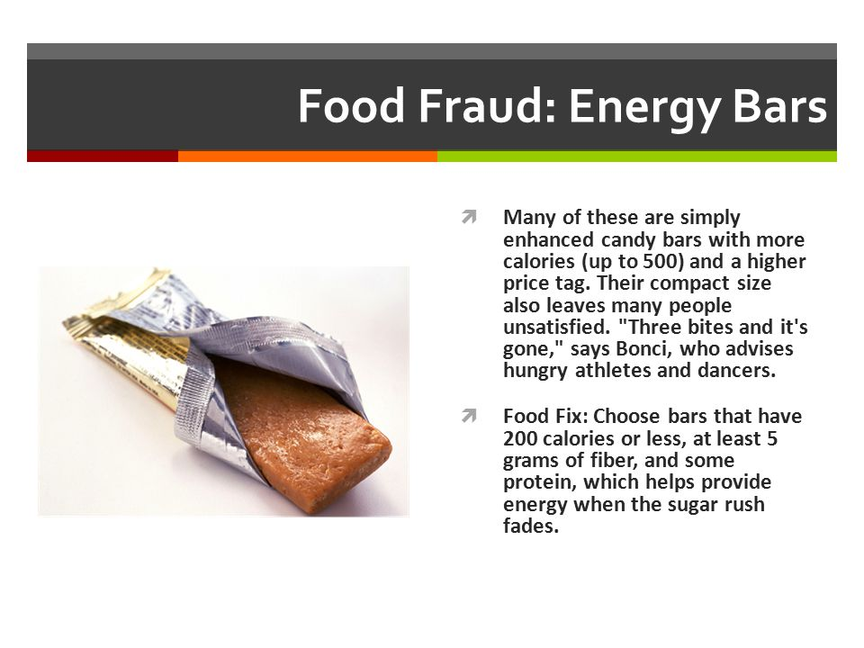 Food Fraud: Energy Bars