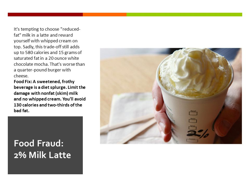 Food Fraud: 2% Milk Latte