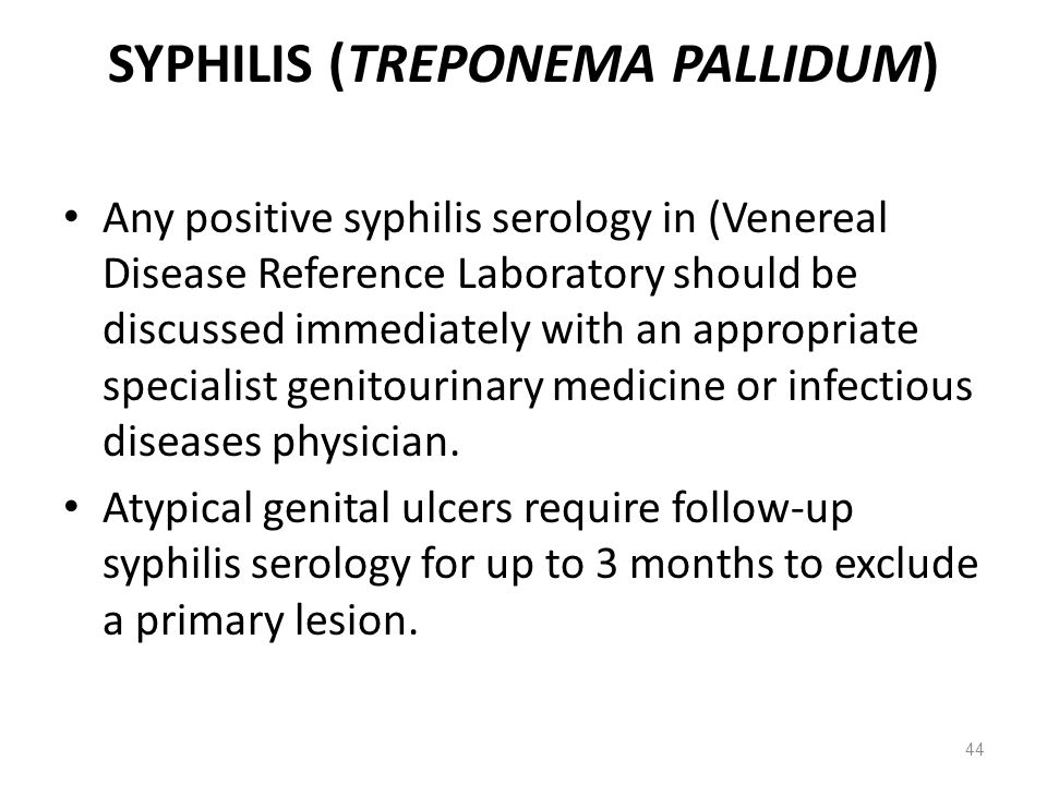 SYPHILIS (TREPONEMA PALLIDUM)