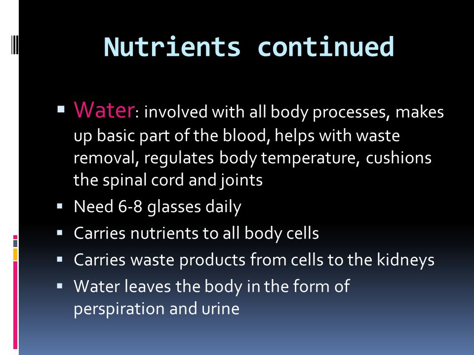 Nutrients continued