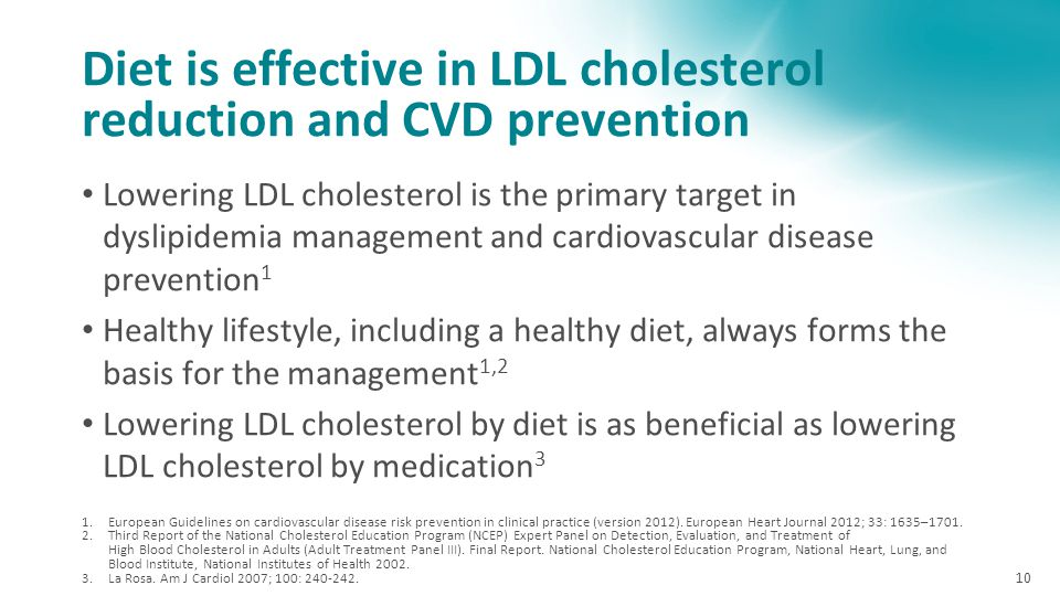 Diet is effective in LDL cholesterol reduction and CVD prevention