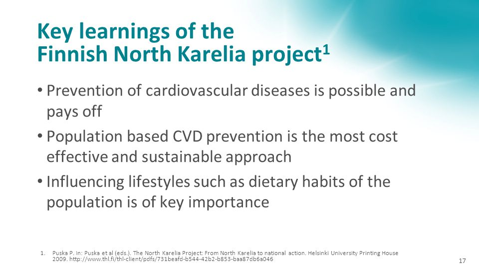 Key learnings of the Finnish North Karelia project1