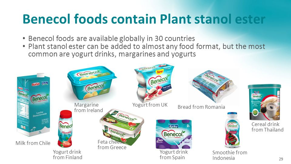 Benecol foods contain Plant stanol ester