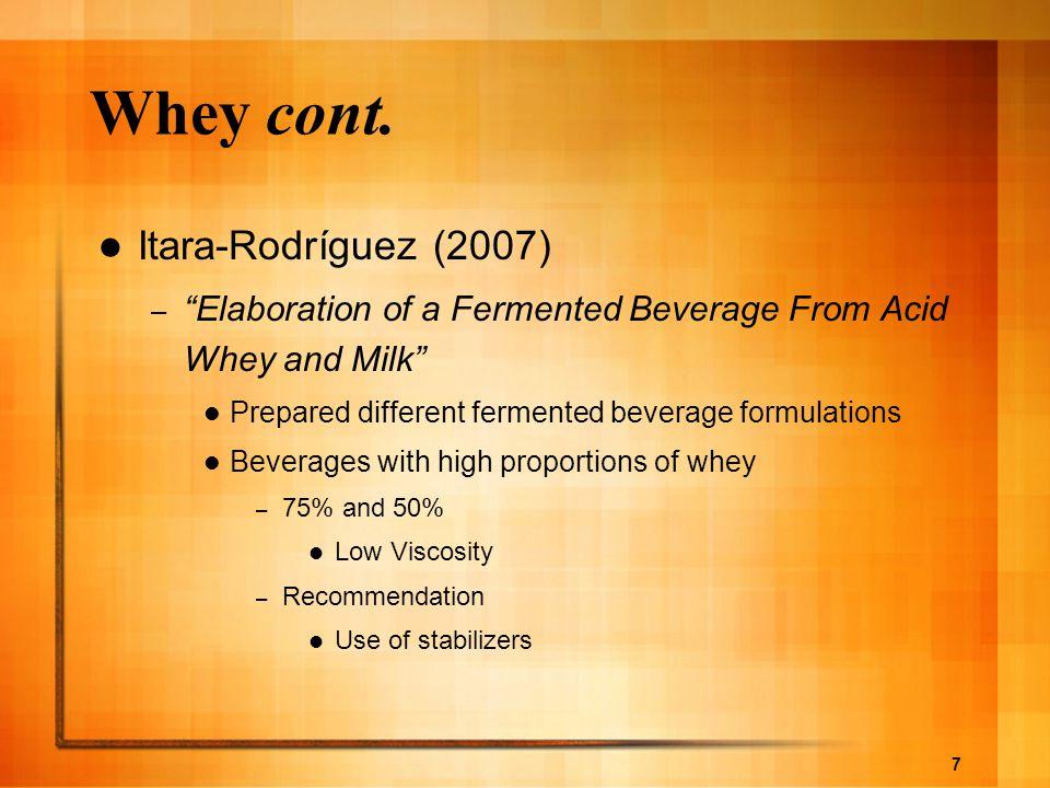 Whey cont. Itara-Rodríguez (2007)