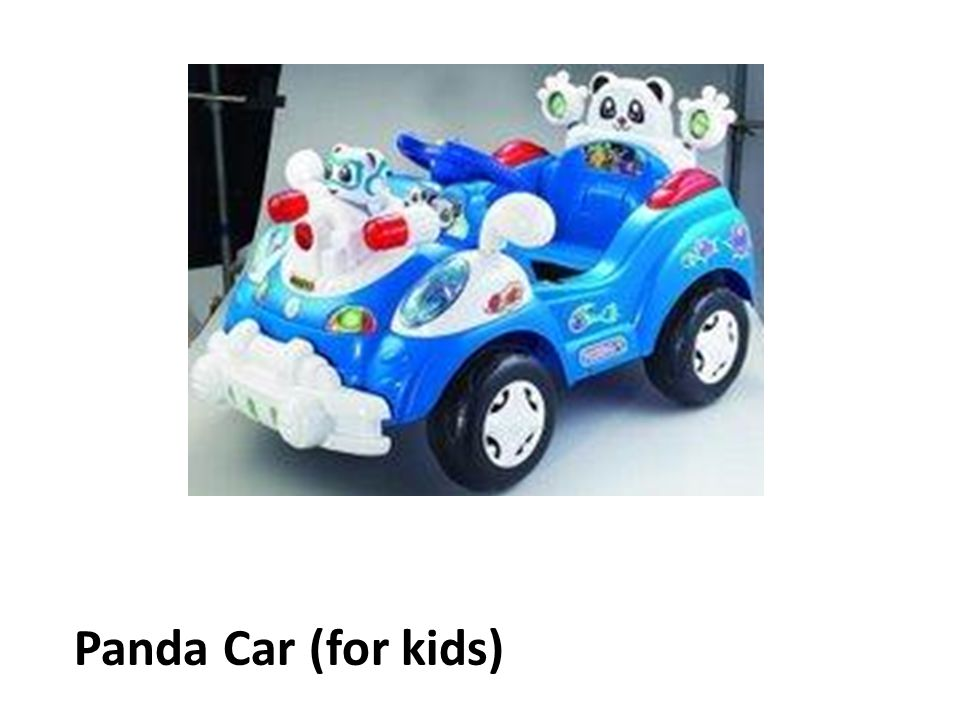 Panda Car (for kids)