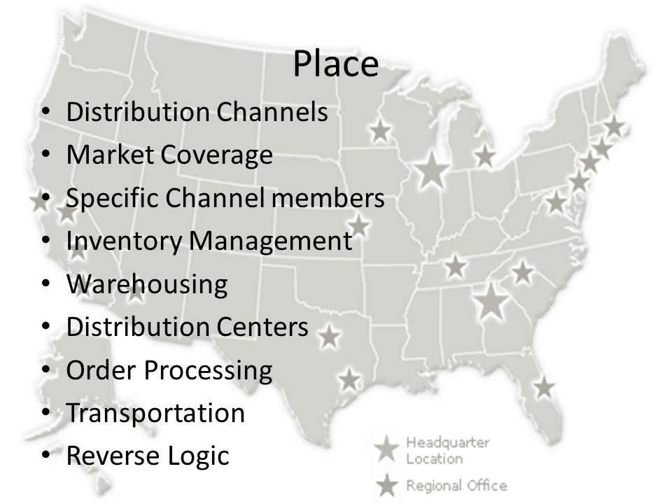 Place Distribution Channels Market Coverage Specific Channel members