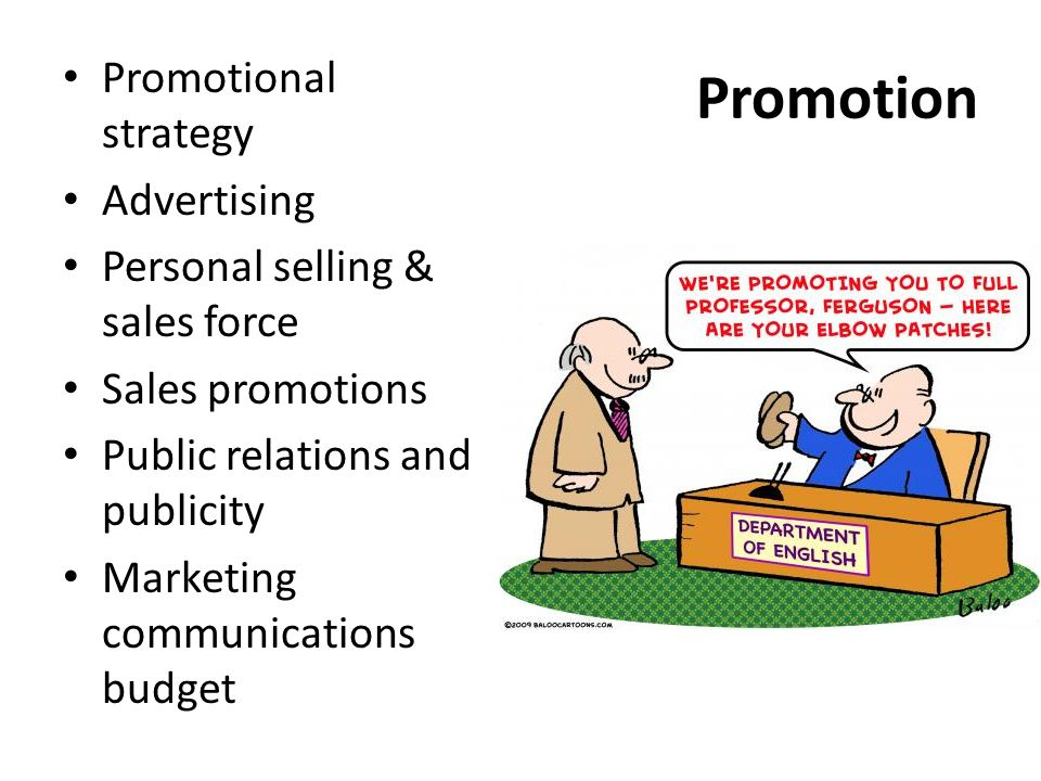 Promotion Promotional strategy Advertising
