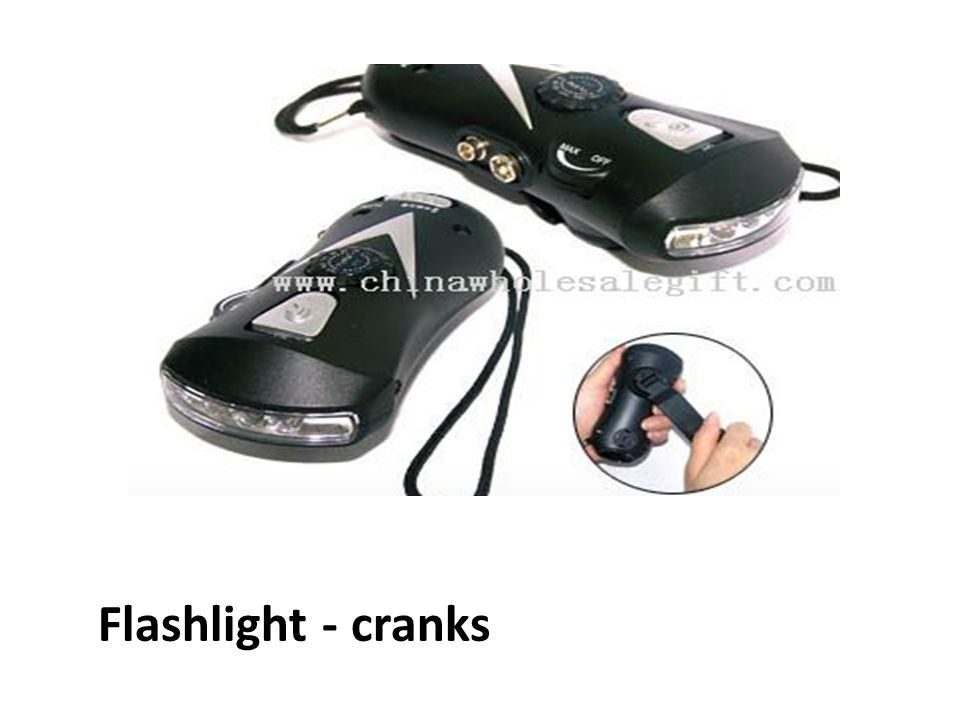 Flashlight - cranks