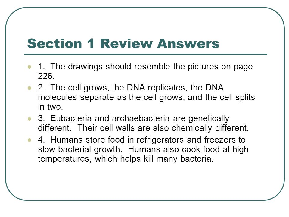 Section 1 Review Answers
