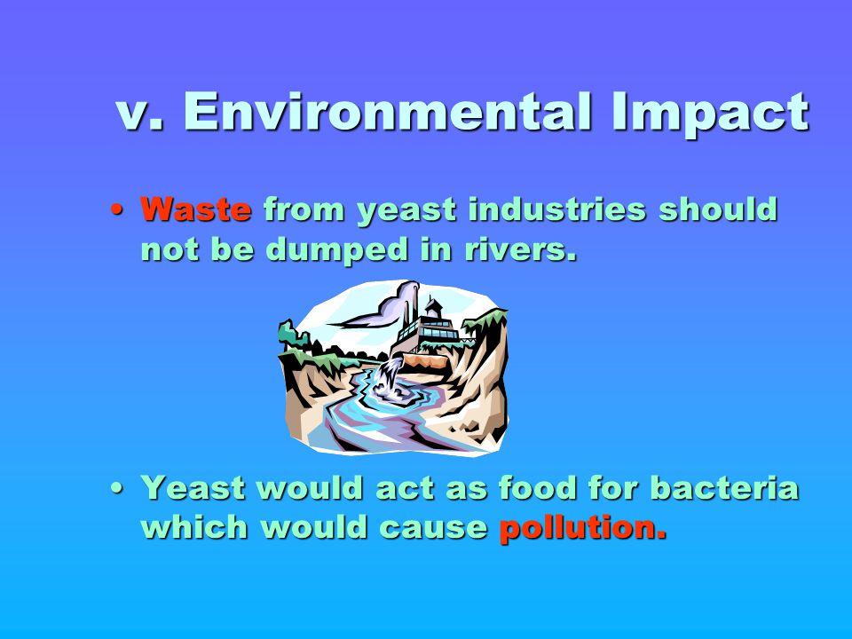 v. Environmental Impact