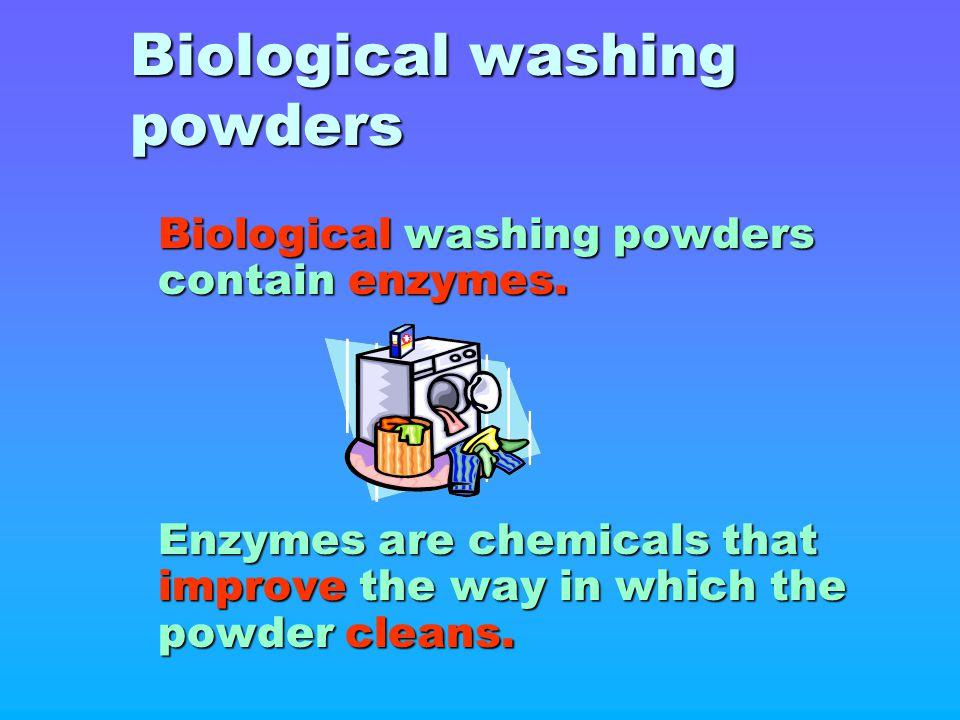 Biological washing powders
