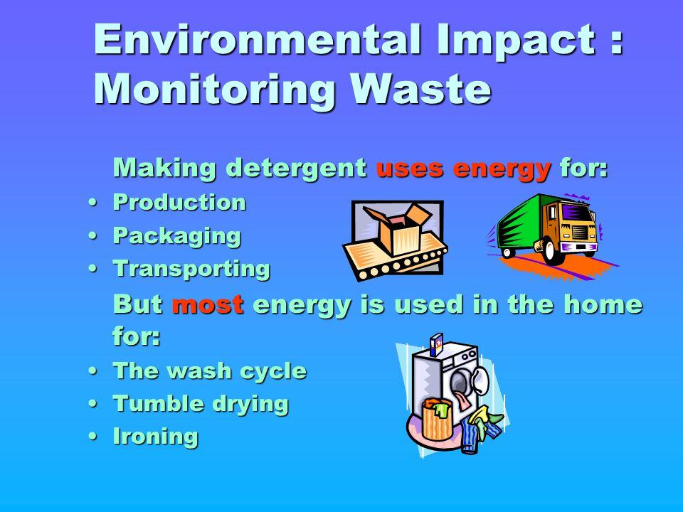 Environmental Impact : Monitoring Waste